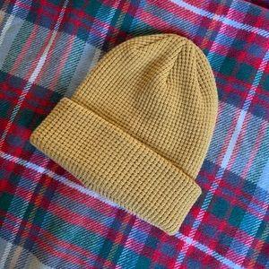 Mustard Waffle Knit beanie